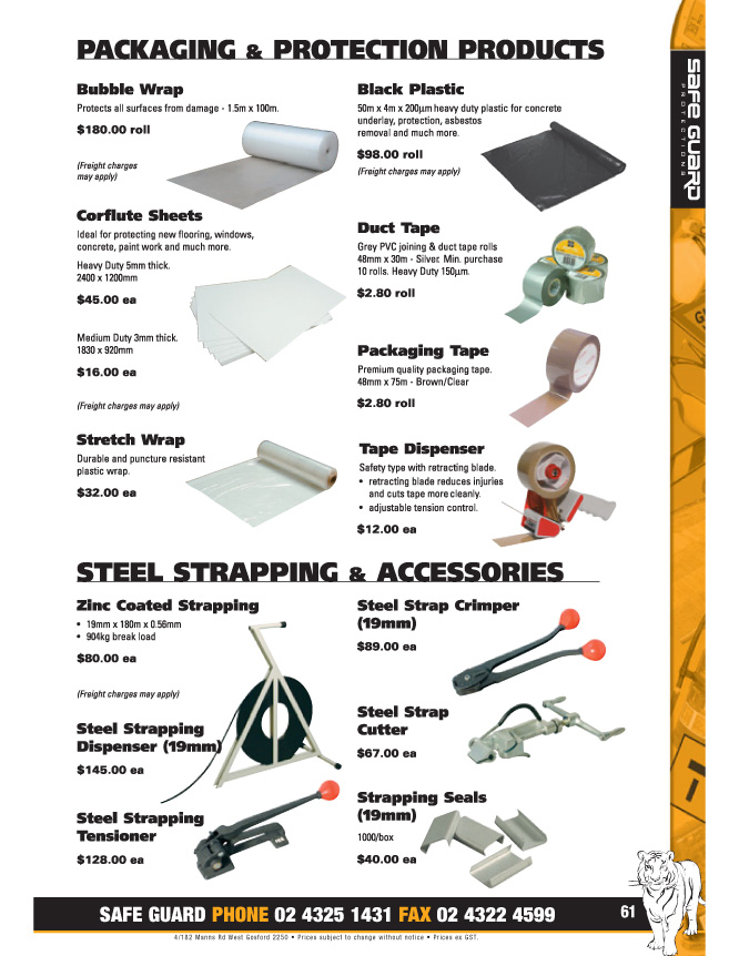 Pg 61 Packaging and Steel Strapping Products