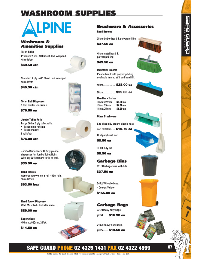 Pg 67 Washroom Supplies